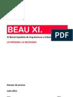 Dossier Prensa XI BEAU