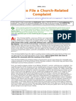 How to File a Church-related Complaint-ron Smith