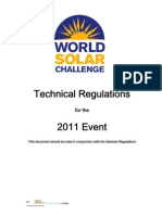 Technical Regulations for the 2011 World Solar Challenge