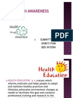 Health Promotion Methods and Approaches (1)