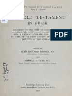 Booke, McLean, Thackeray. The Old Testament in Greek according to the text of Codex vaticanus. 1906. Volume 1, Part 1.