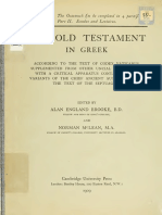 Booke, McLean, Thackeray. The Old Testament in Greek according to the text of Codex vaticanus. 1906. Volume 1, Part 2.