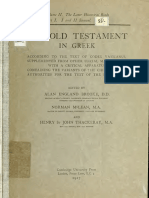 Booke, McLean, Thackeray. The Old Testament in Greek according to the text of Codex vaticanus. 1906. Volume 2, Part 1.