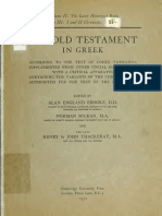 Booke, McLean, Thackeray. The Old Testament in Greek according to the text of Codex vaticanus. 1906. Volume 2, Part 3.