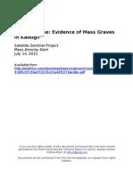 Evidence of Mass Graves in Kadugli