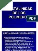 Cristalinidad de Los Polimeros