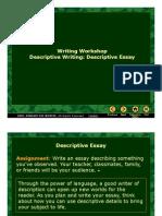 Writing Workshop Descriptive Writing