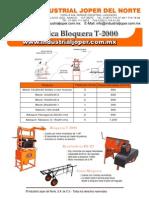 Folleto Fca.block Mod.t-2000