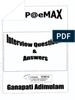 ABAP - Interview Questions & Answers (Emax Technologies) 242 Pages