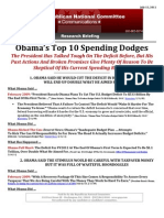 Obama's Top 10 Spending Dodges