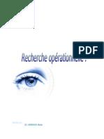 Recherche opérationnelle