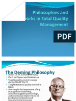 Philosophies and Frameworks in Total Quality Management