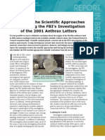 Review of the Scientific Approaches Used During the FBI's Investigation of the Anthrax Letters