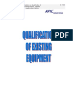 Qualification Existing Equipment Final
