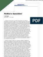 Politici e Banchieri - Ida Magli