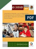 SEP Lineamientos Generales 2010
