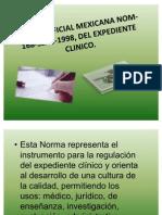 (6)Norma Oficial Mexicana Nom-168-Ssa1-1998, Del Expediente Clinico
