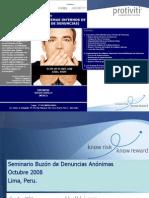 Seminario Buzón de denuncias anónimasPERU 2008 Ver IIAver 3printable version