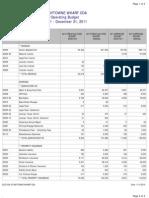 Elation Operating Budget 2011