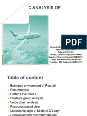 ryanair the low fares airline ? ?always getting better? case study