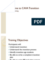 Transition Teacher Training