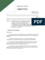 DoDD 3200-12 - DoD S&T Information Program