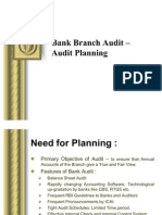 Bank Branch Audit –Audit Planning