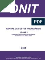 Manual de Custos Rodoviários DNIT