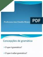 Fundamentação da noção de gramática