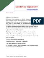 Santiago Alba Rico - Ciudadanía y Capitalismo. - copia