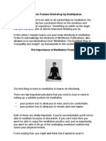 FBA41 Meditation Posture Guide