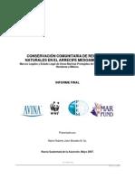 CONSERVACIÓN COMUNITARIA DE RECURSOS NATURALES EN EL ARRECIFE MESOAMERICANO