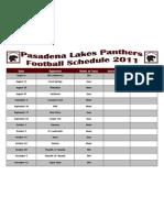 Pasadena Panthers Schedule.docx