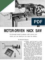 Motor Driven Hacksaw