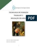 Tecnologia de fundição relatório trabalho 1