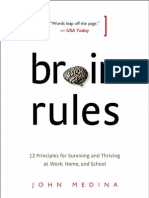 Brain Rules by John Medina (Exercise Chapter)