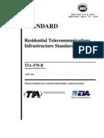 570B Residential Telecommunications Infraestructure Standard