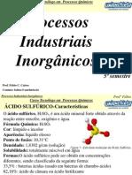 Processo Industrial Inorgânico Ácido Sulfúrico