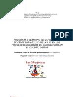 PROGRAMA E-LEARNING DE CAPACITACIÓN DOCENTE PARA EL USO DE LAS TIC EN LOS PROCESOS EDUCATIVOS DE BACHILLERATO EN EL COLEGIO OMEGA