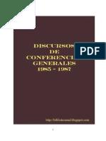 Discursos de Conferencias Generales 1985 - 1987