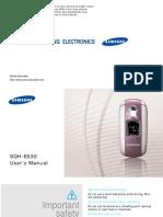 Manual Samsung Sgh-530
