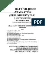 Gujarat Civil Judge Examination 2011 Study Materials