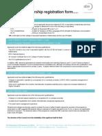 Student Membership Registration Form QCF 2011