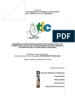 PROGRAMA DE CAPACITACIÓN DOCENTE INSTITUCIONAL
