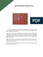 Proses Pembuatan Kusen Pintu
