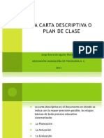 Carta Descriptiva Plan de Clase