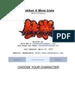 Tekken 6 Move Lists