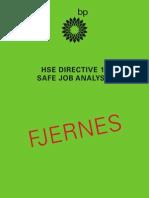 HSE DIRECTIVE 11 SAFE JOB ANALYSIS