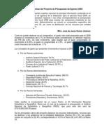 Analisis Preelimiar Ley de Egresos 2009