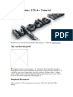 3D Text Shatter Effect